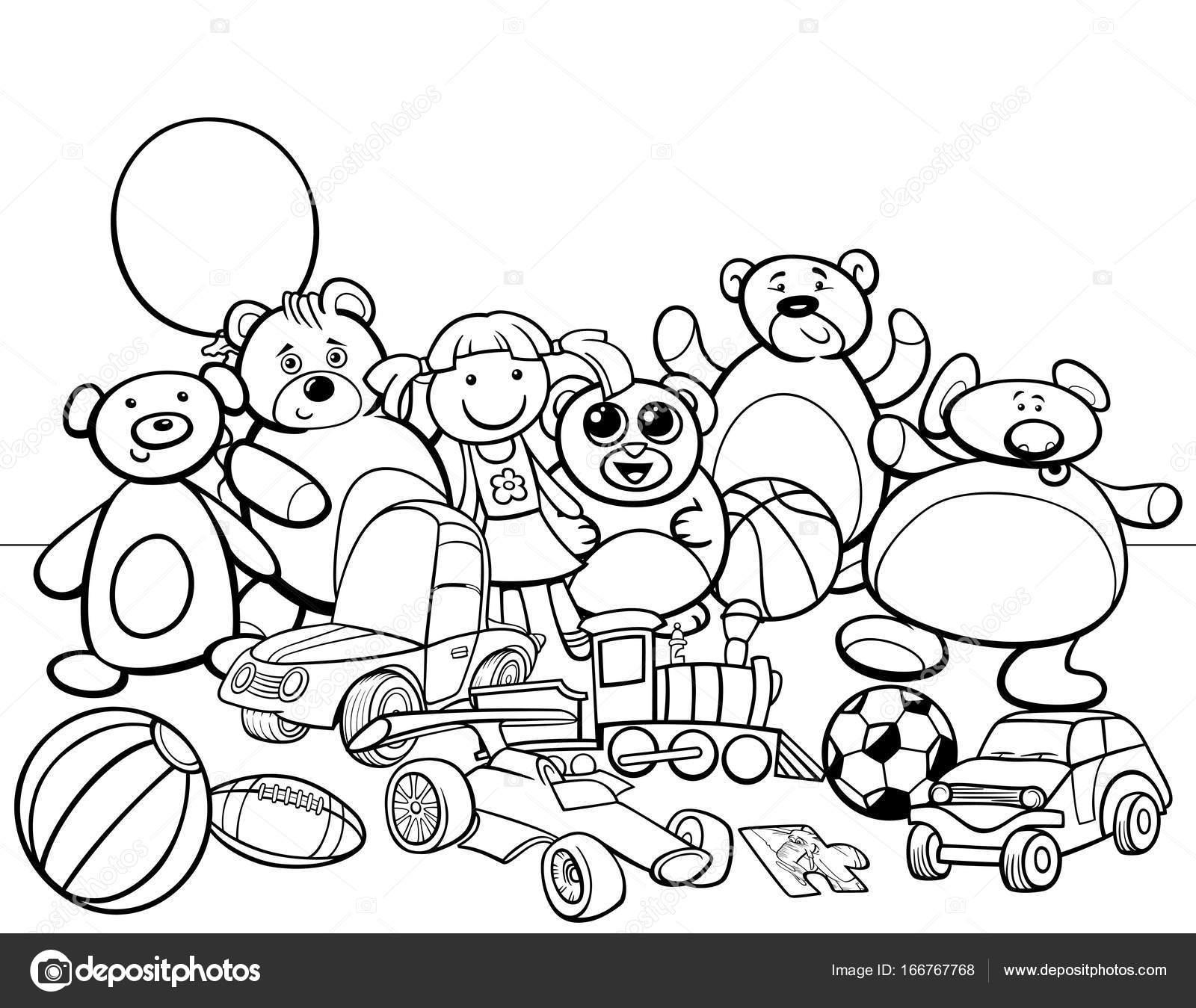 Imágenes Juguetes Animados Para Colorear Grupo De