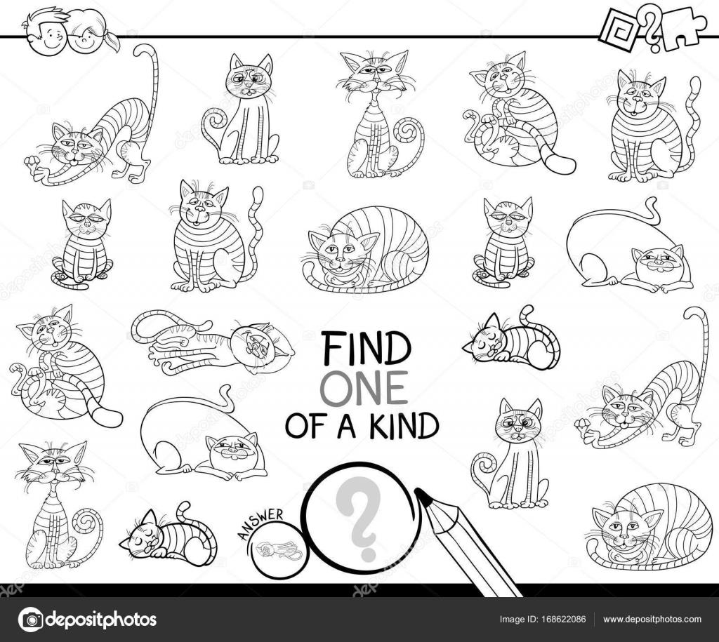 encontrar uno de un bueno juego con gatos para colorear libro ...