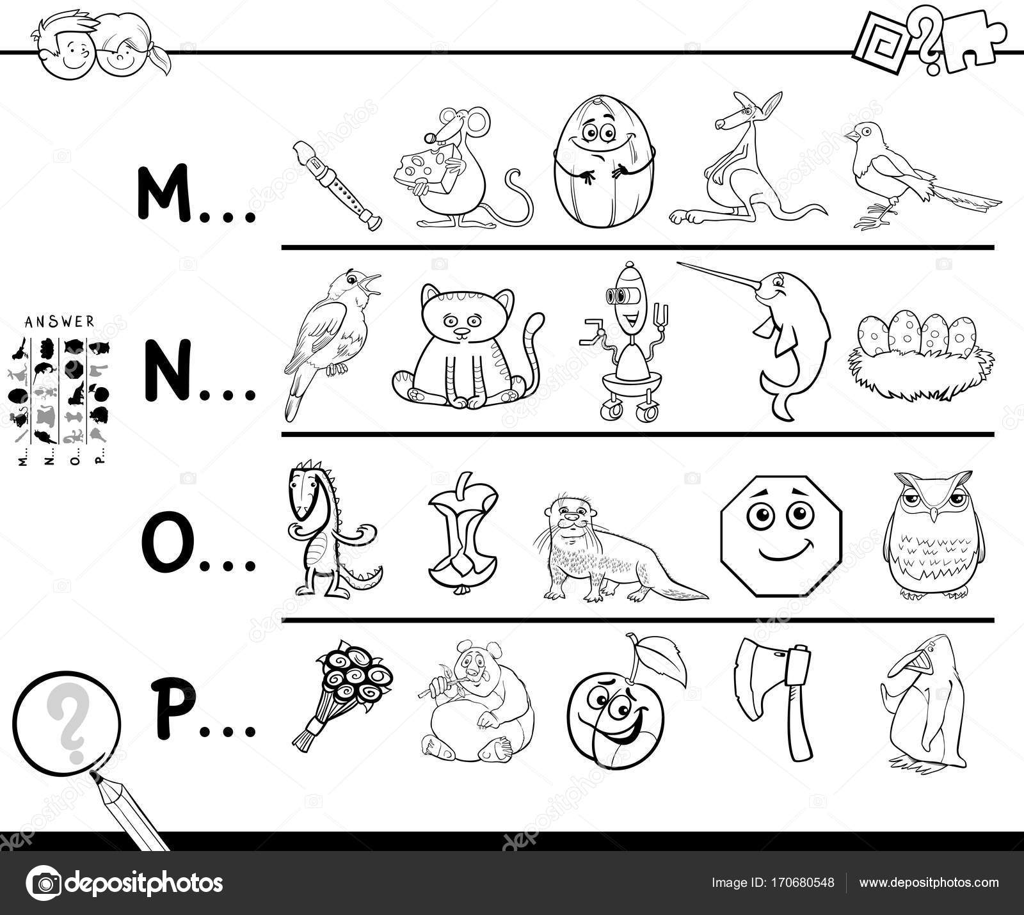 Eerste Letter Van Een Woord Pagina Kleurplaten Voor Kids