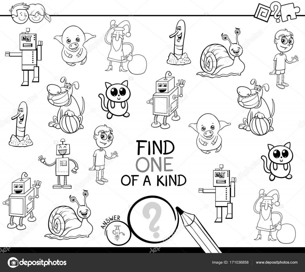 Bir Tür çizgi Film Oyun Boyama Kitabı Stok Vektör Izakowski