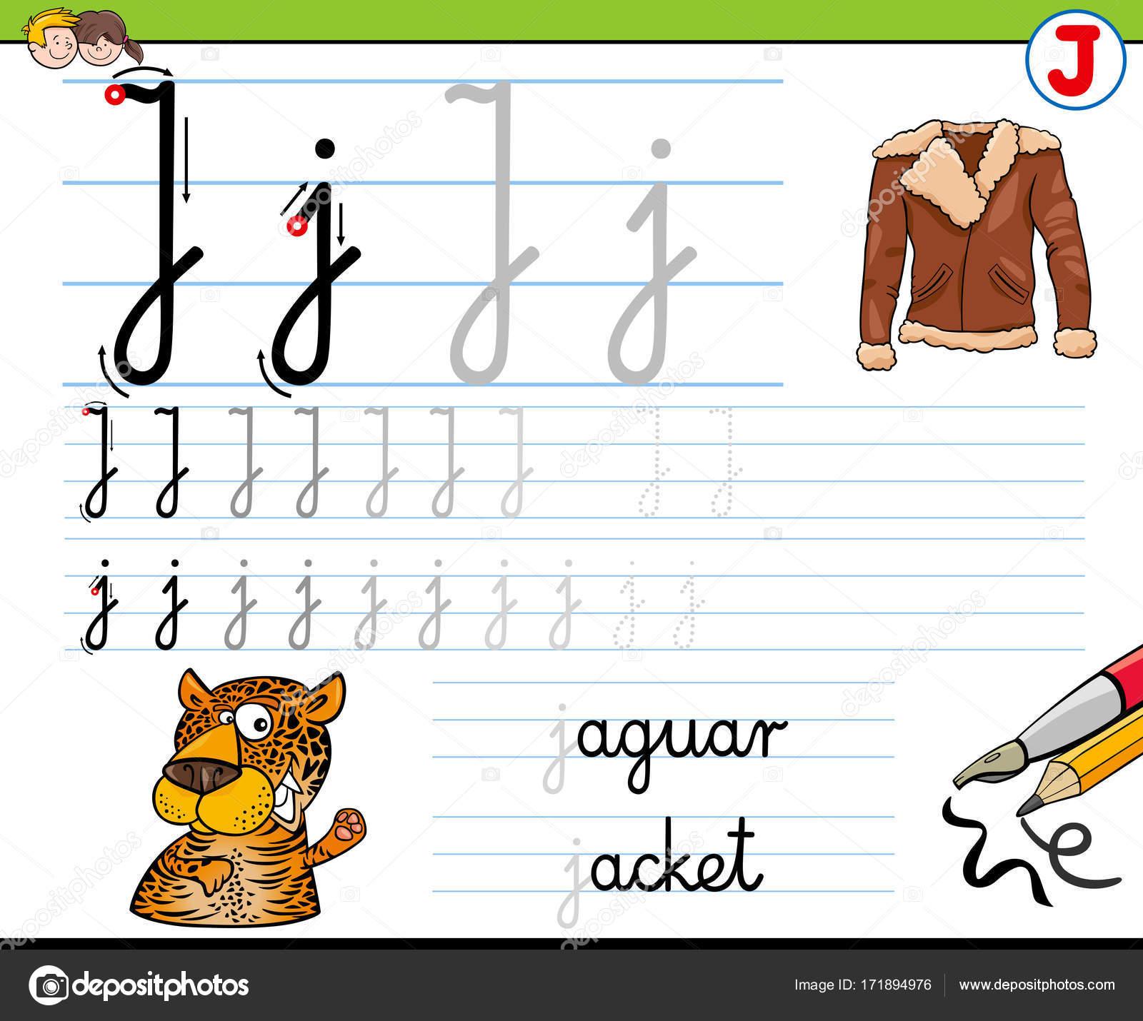 Gewusst wie: schreiben Sie Buchstaben J Arbeitsblatt für Kinder ...