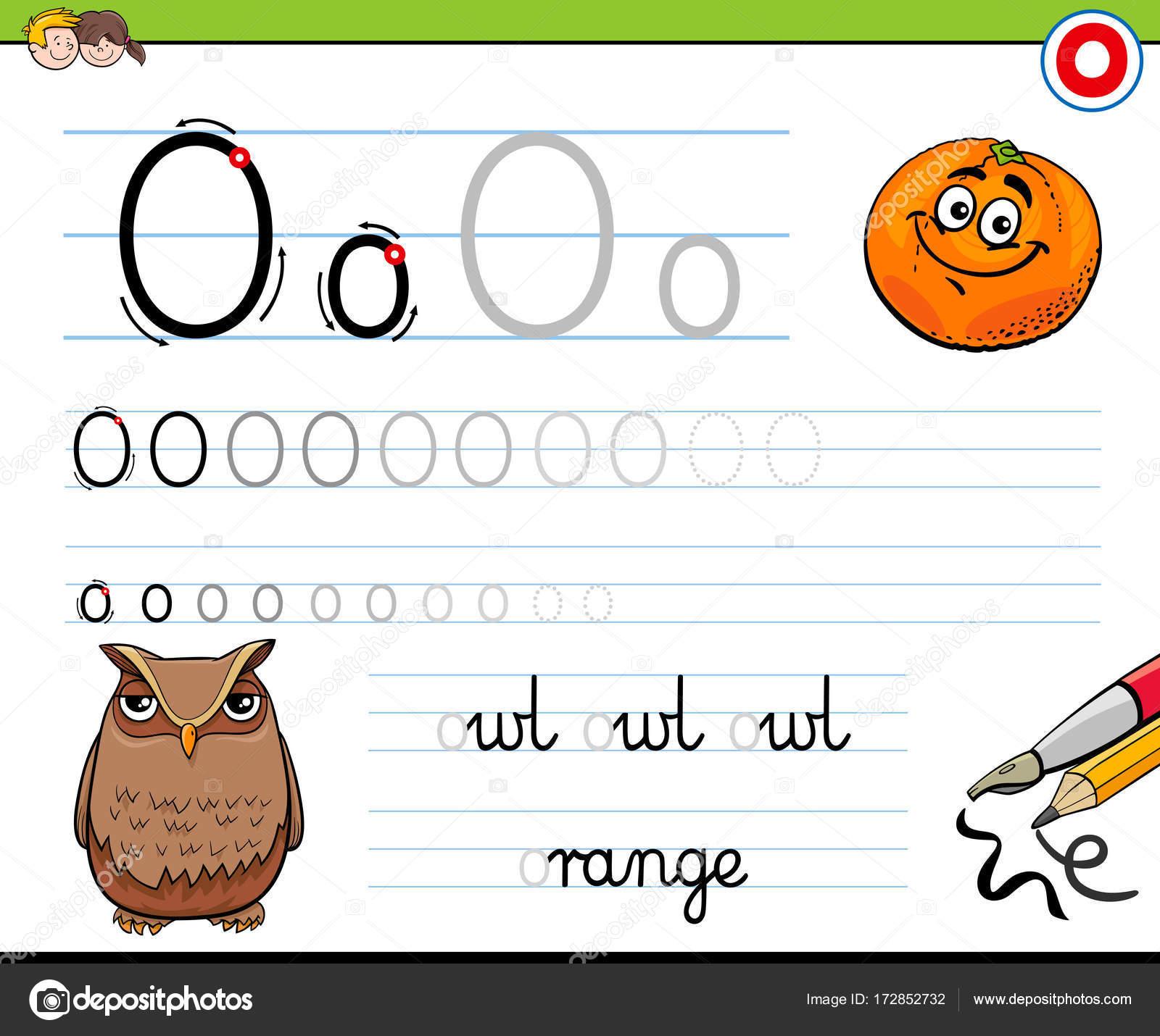 Gewusst wie: schreiben Sie Buchstaben O Arbeitsblatt für Kinder ...