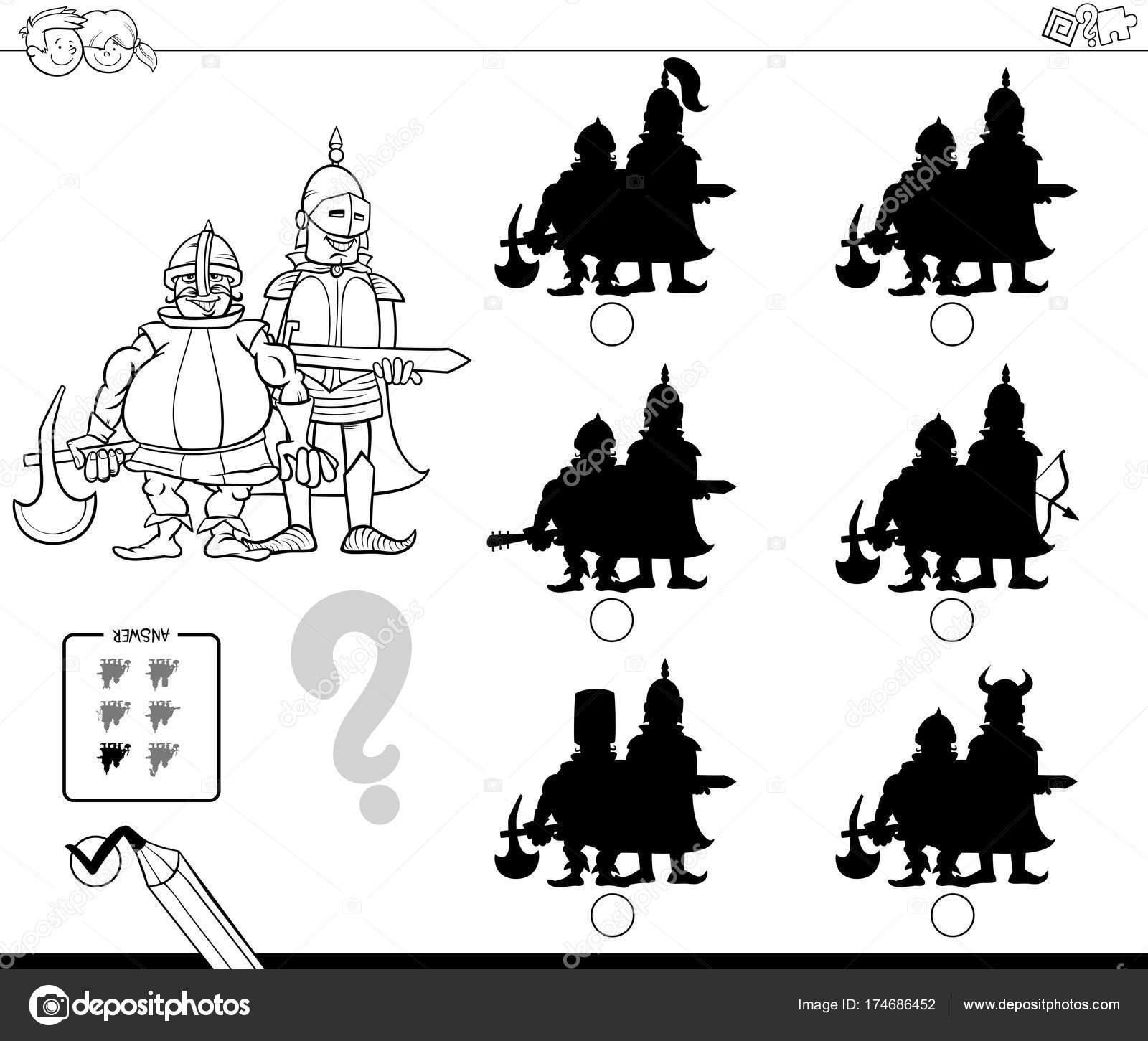 sombras de monstruos del juego libro de color — Archivo Imágenes ...