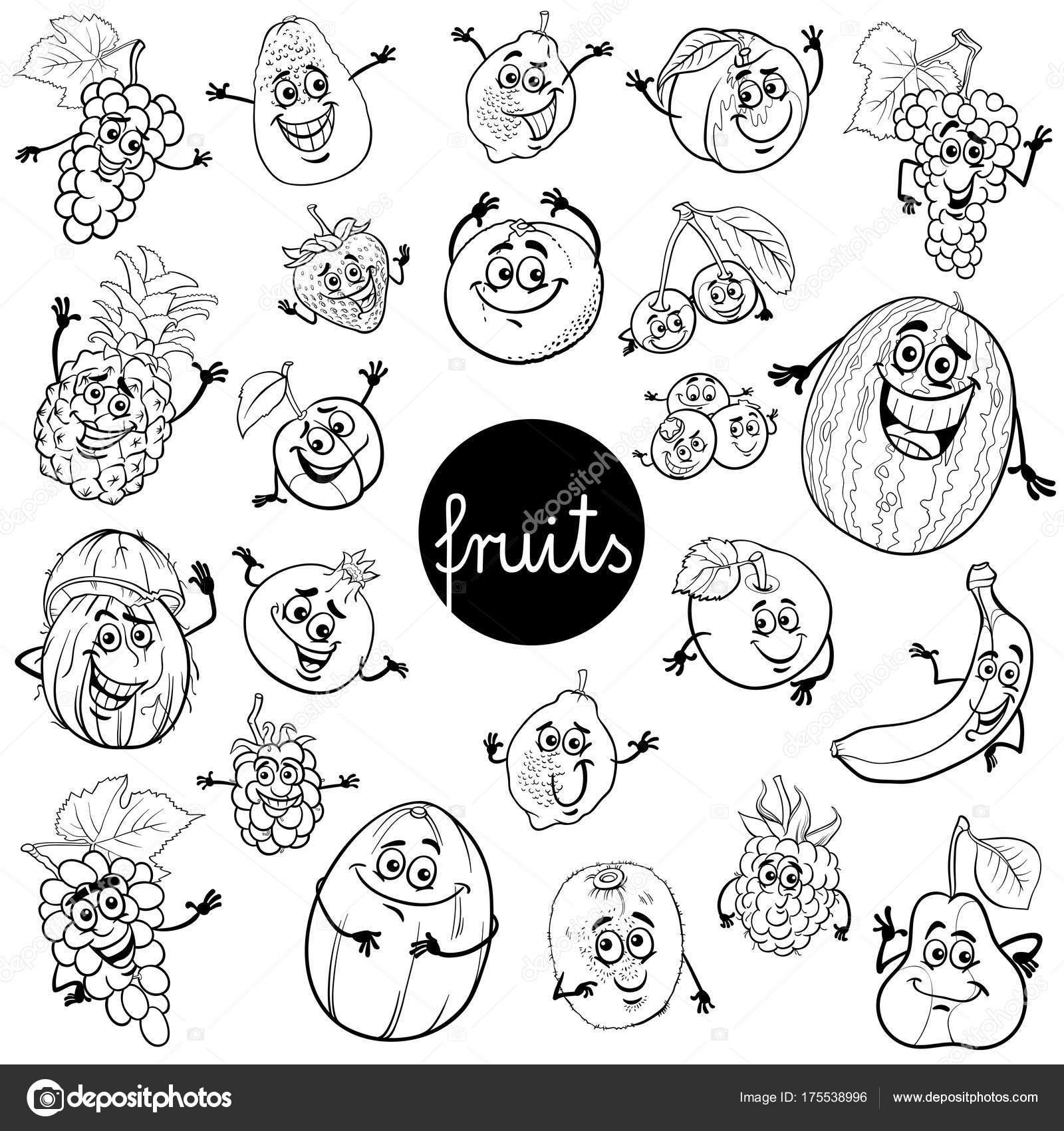 Dibujos Para Pintar Frutas Y Verduras Libro De Dibujos
