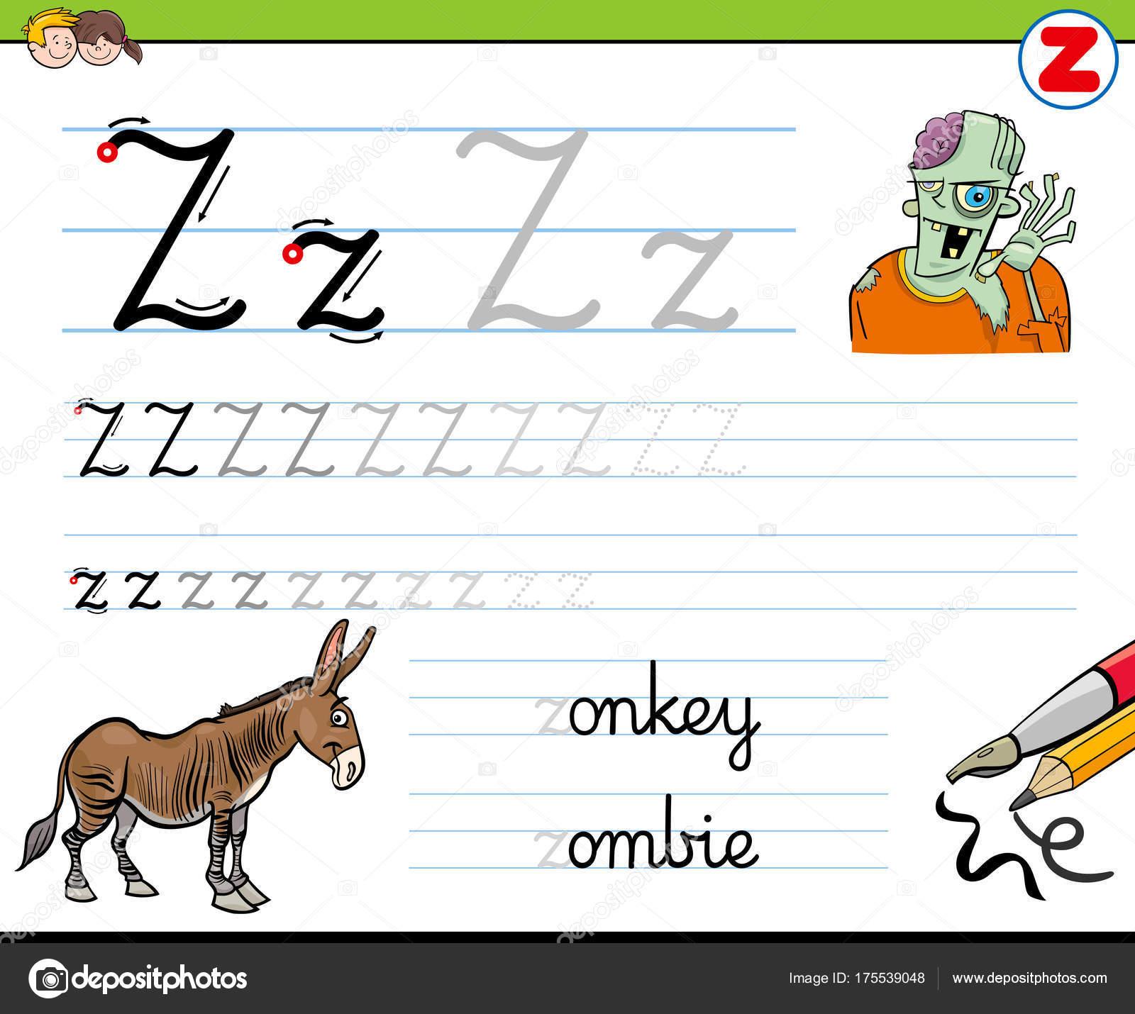 Gewusst wie: schreiben Sie Buchstaben Z Arbeitsblatt für Kinder ...