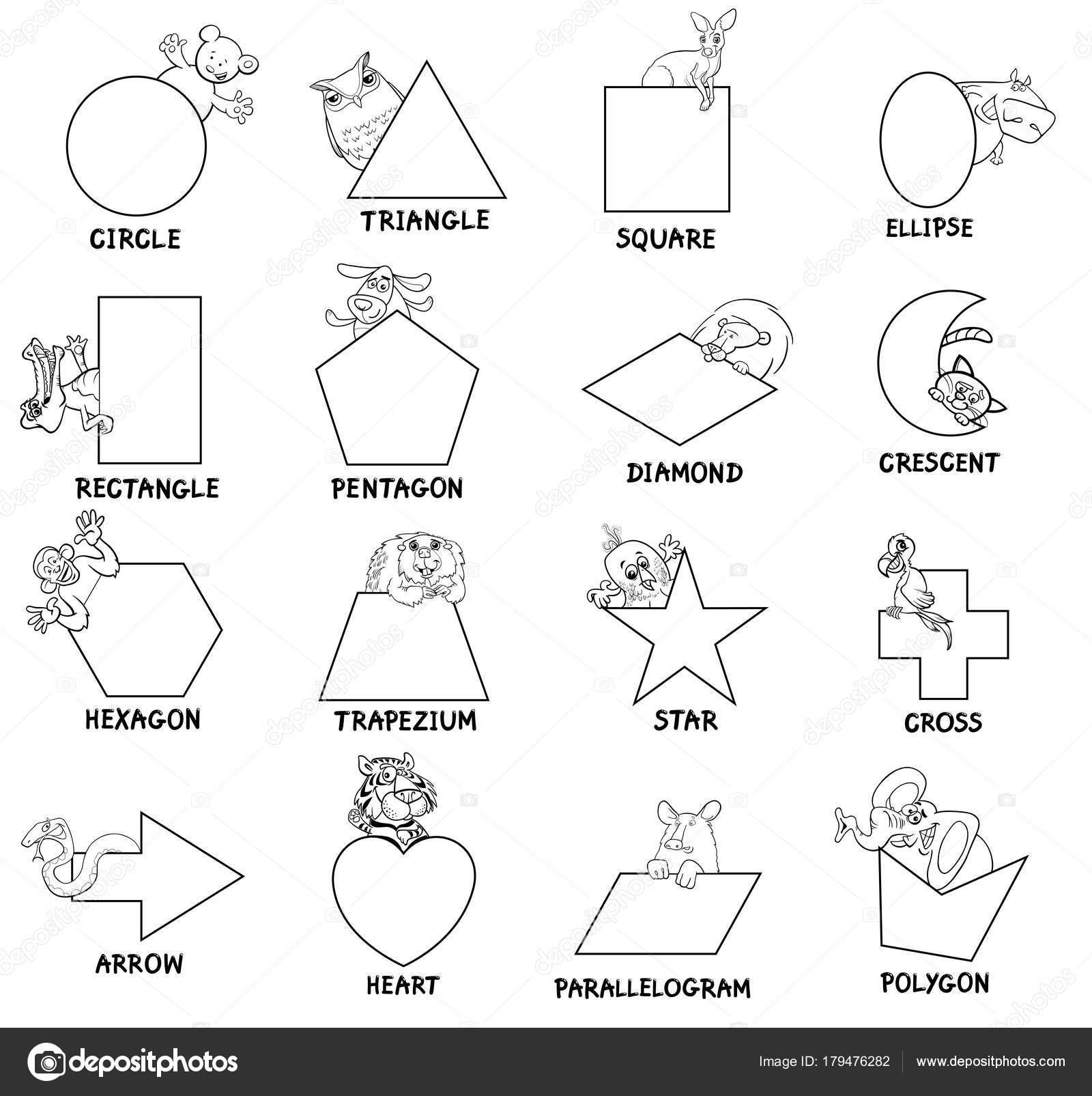 Formes Geometriques Noir Et Blancs Avec Des Animaux Image
