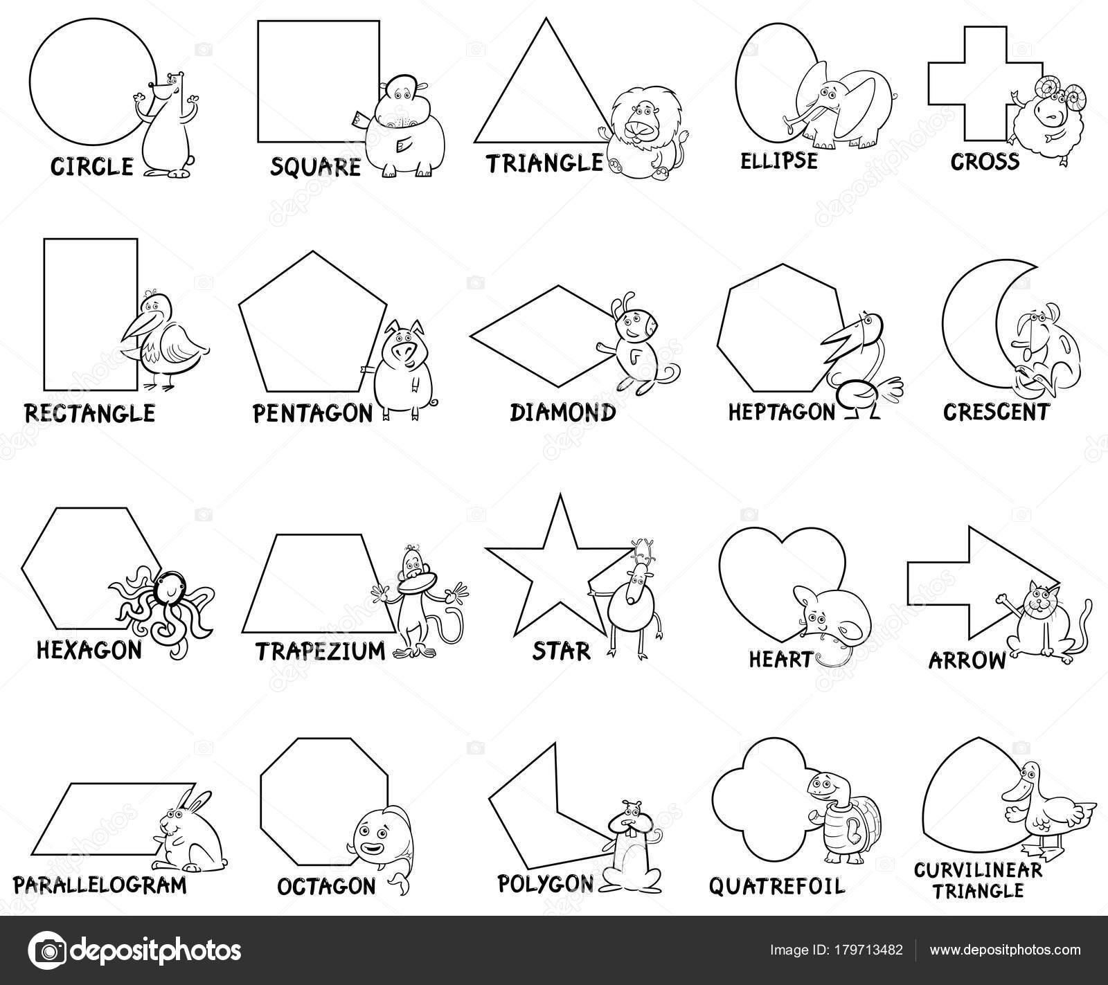 Formas Geométricas Básicas Con Animalitos Archivo Imágenes