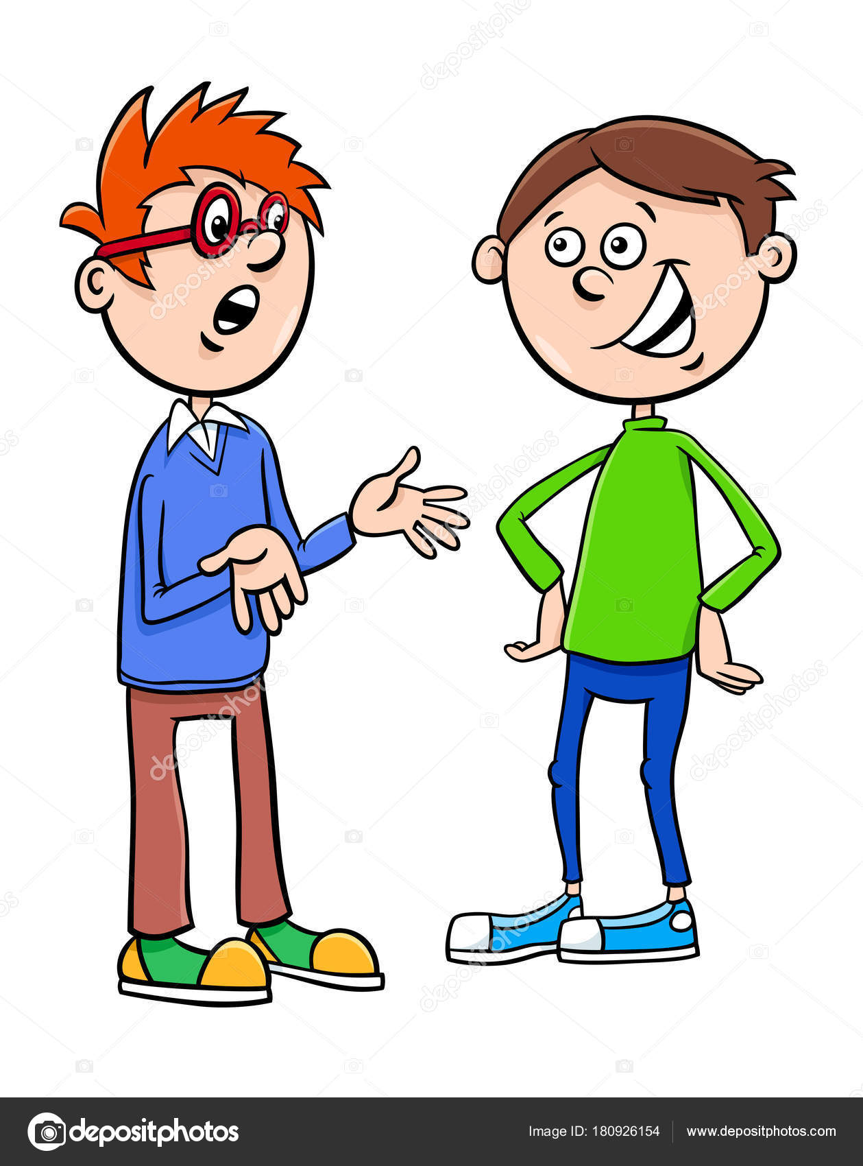 los muchachos del cabrito personajes hablando de dibujos Clip Art Two People two people talking clip art gif