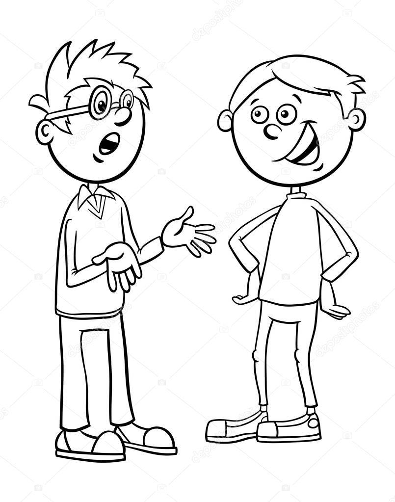 Imágenes Estudiantes Hablando Dibujo Chicos Personajes