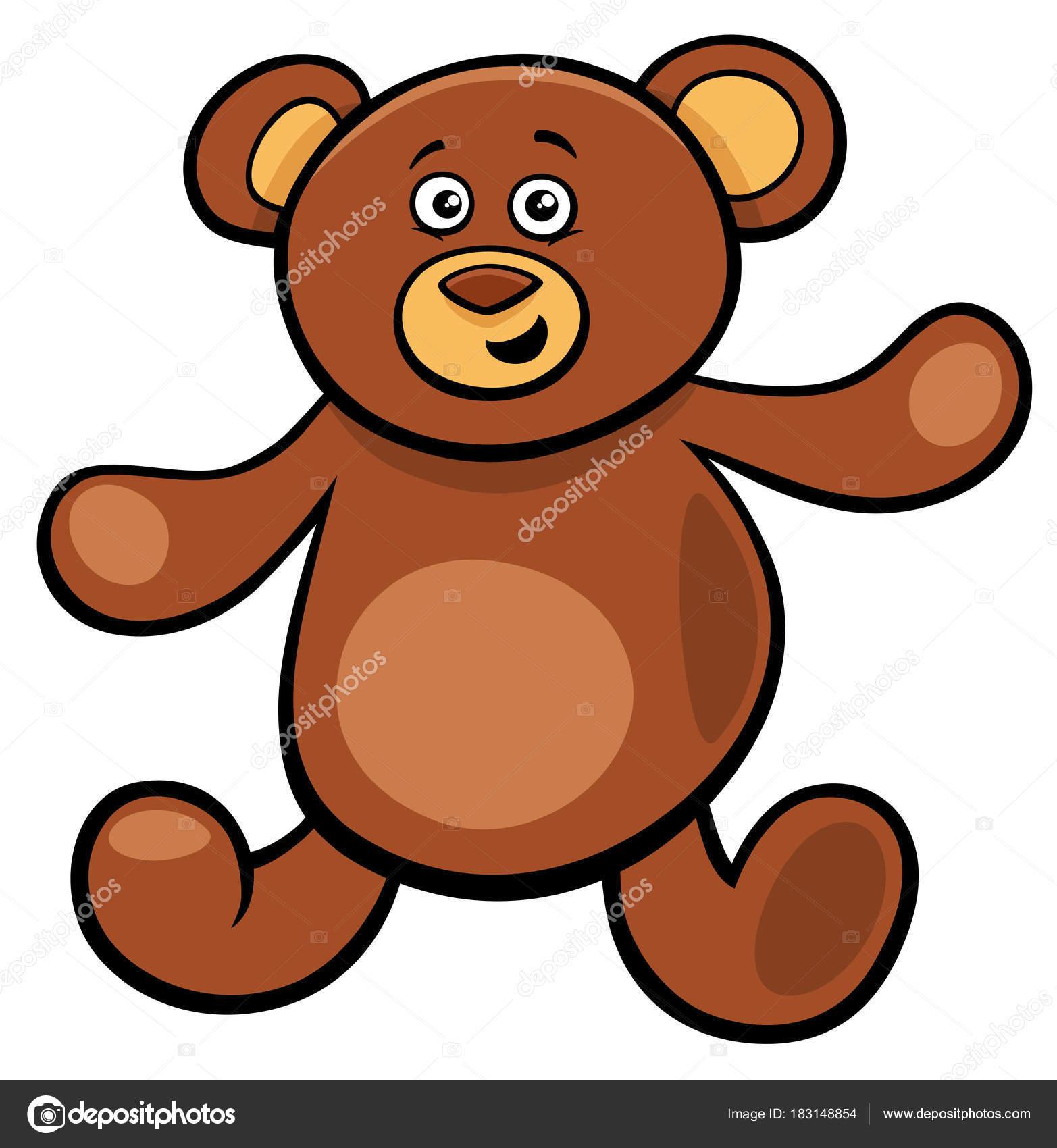 lindo oso de peluche personaje de juguete de dibujos animados ...