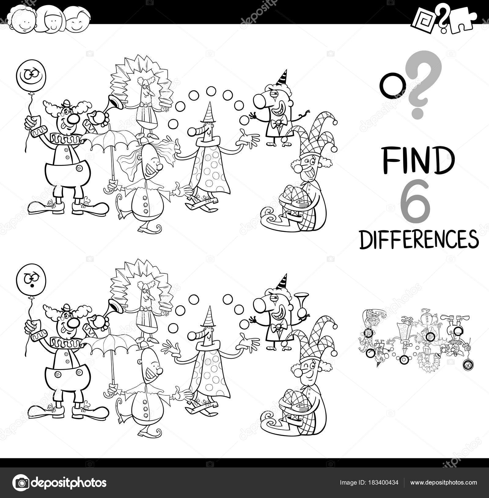 Imágenes Comercio Para Colorear Juego De Diferencias Con