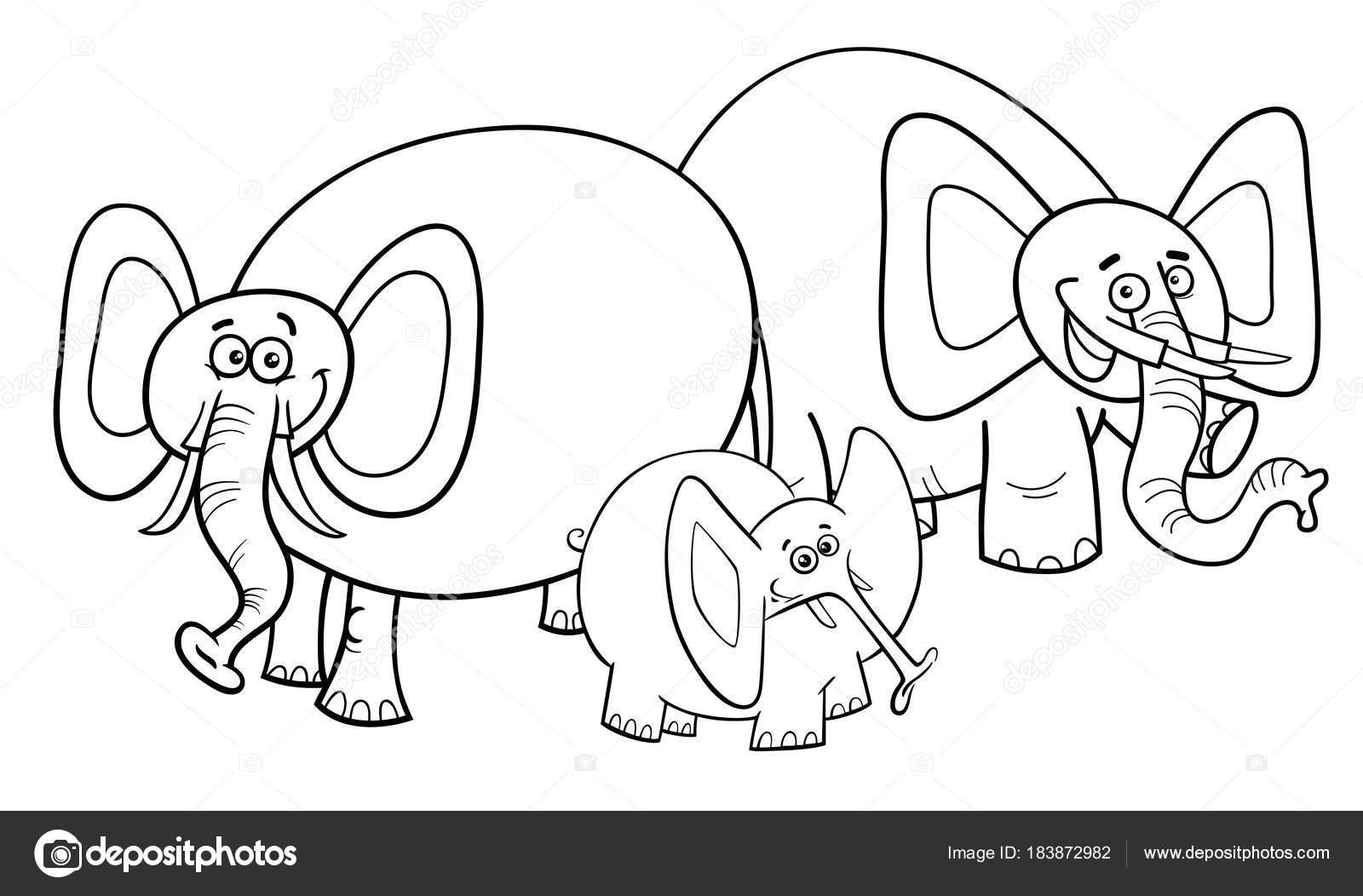 Grupo de carácter libro para colorear de dibujos animados de ...