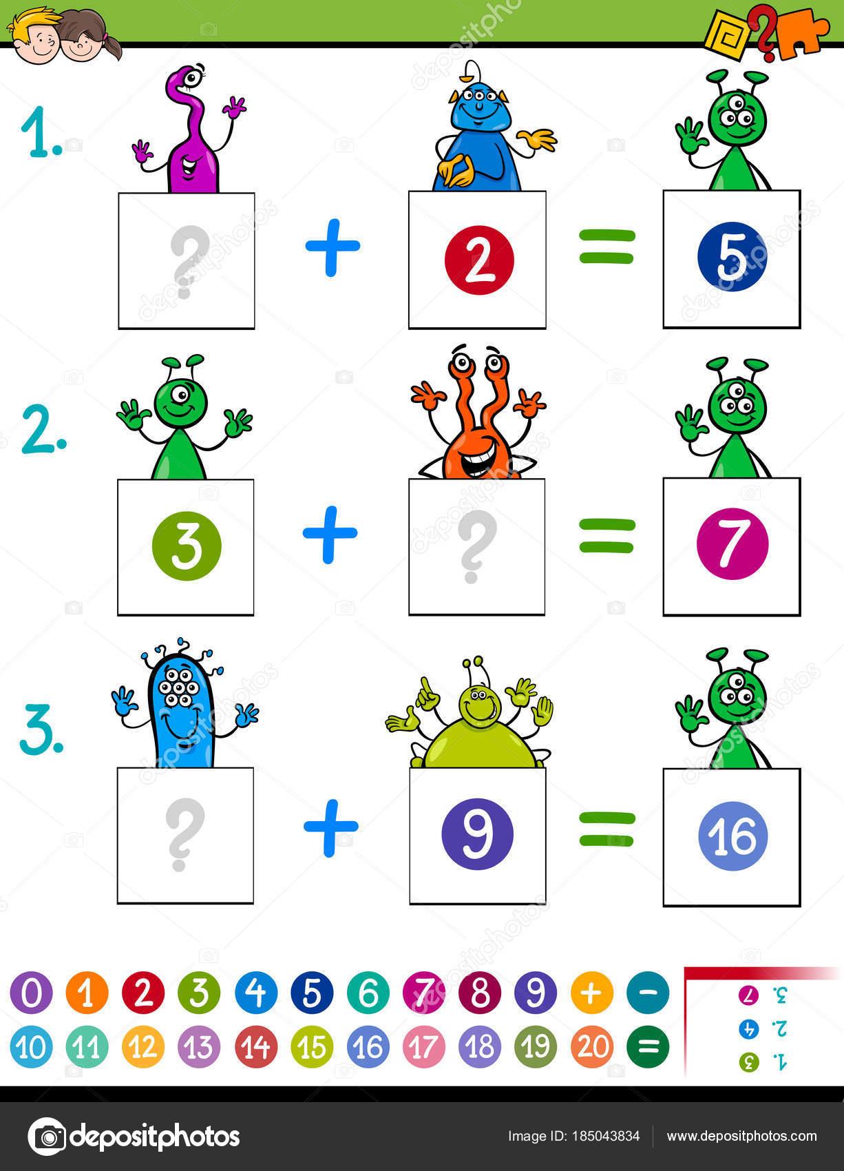Mathematik-Zusatz-Lernspiel mit aliens — Stockvektor © izakowski ...
