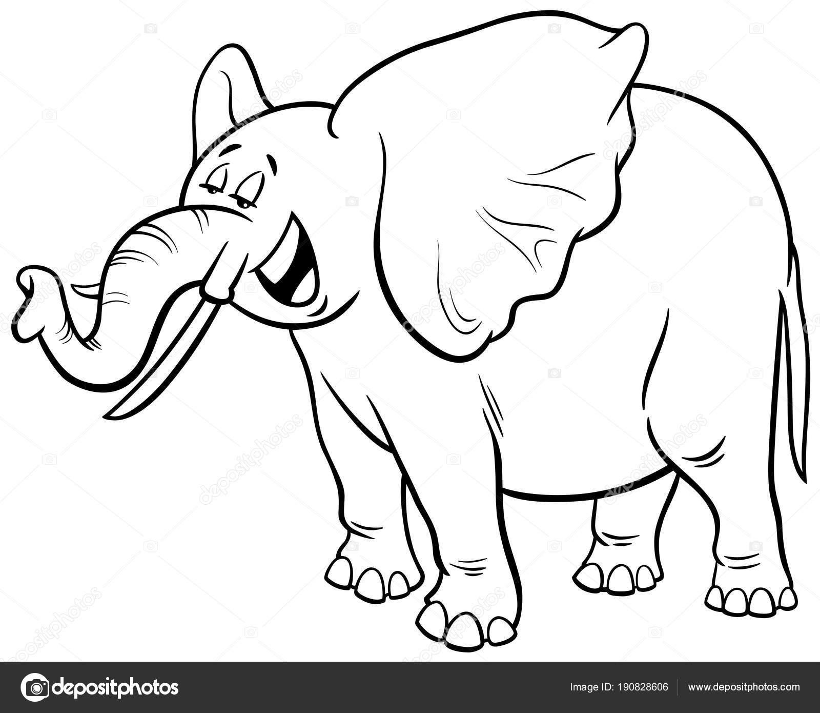 Dibujos Elefante Africano Dibujo Libro De Colorear De Personaje