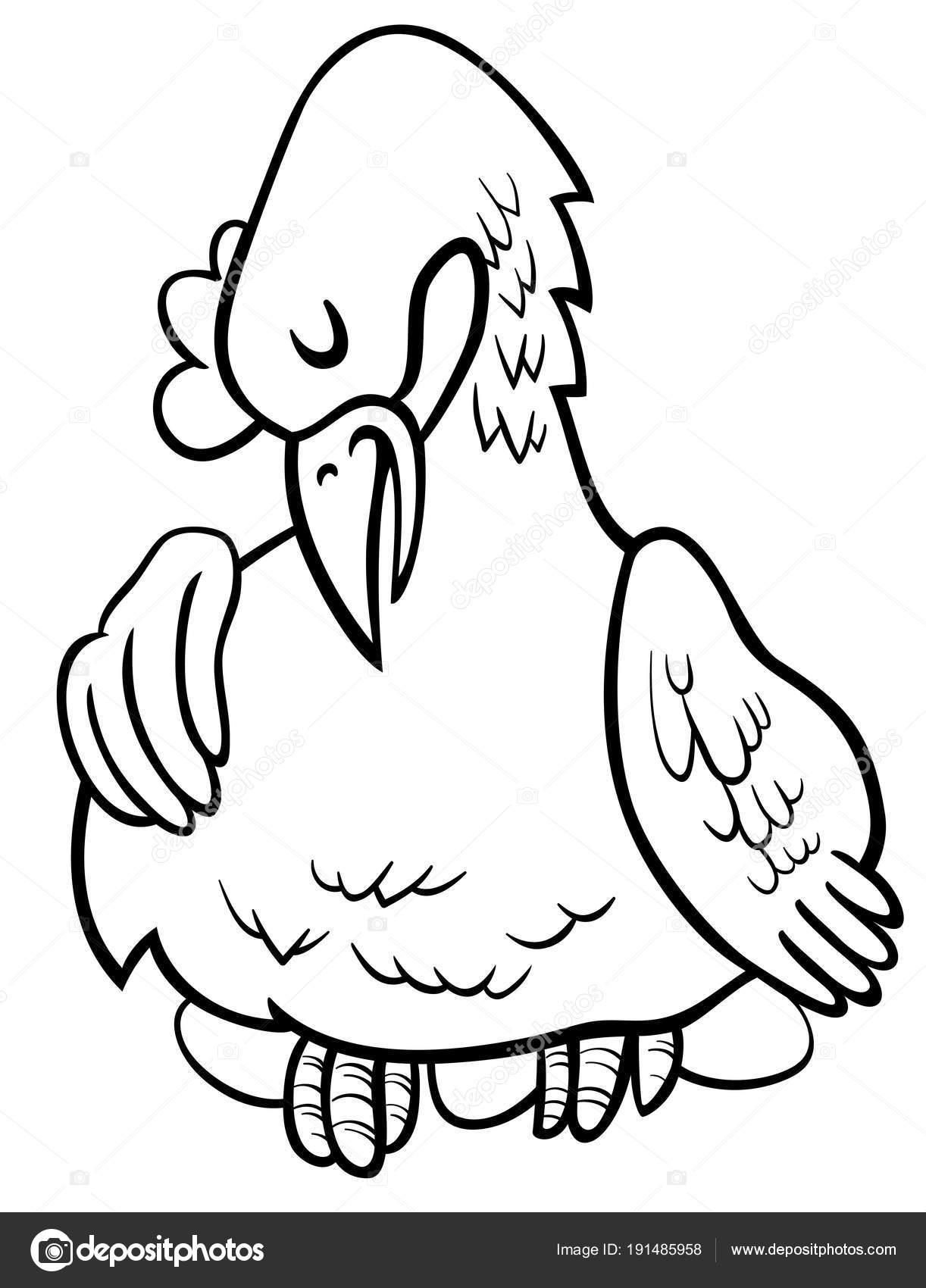 gallina huevos dibujos animados para colorear libro de caracteres ...
