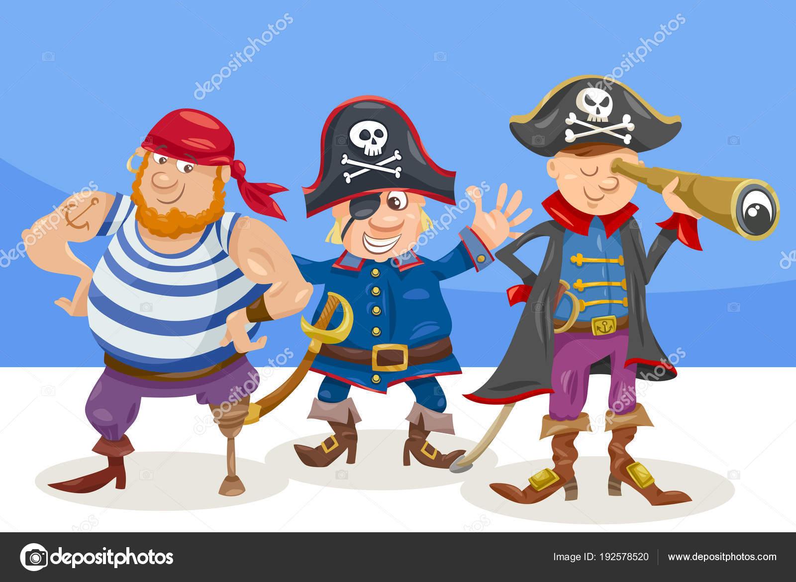海賊面白い文字漫画イラスト ストックベクター Izakowski 192578520