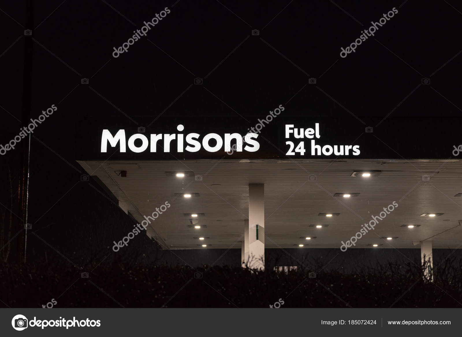 Northampton UK January 21 2018: Morrisons Superstore Gas Station ...