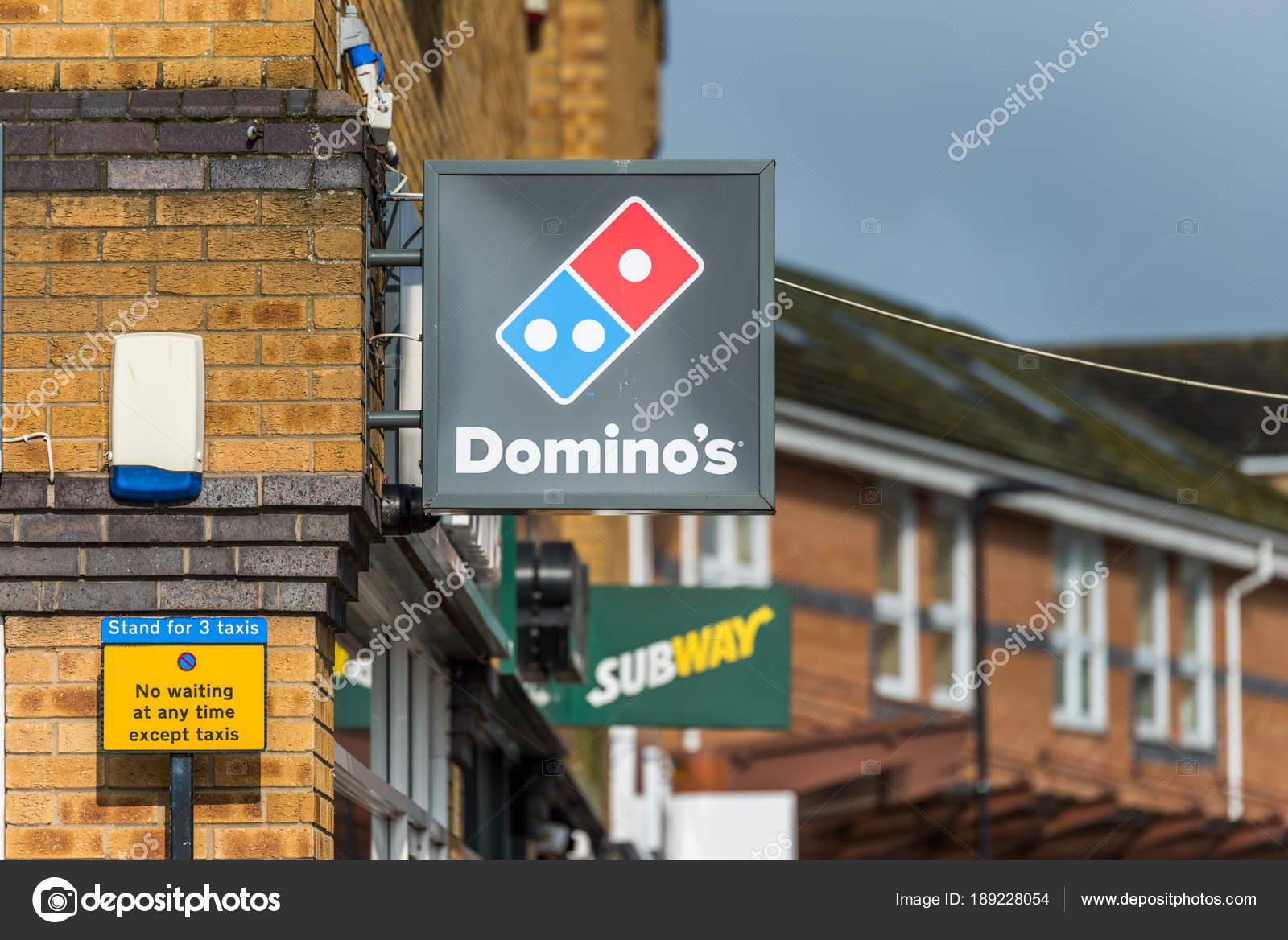 Daventry Uk March 13 2018 Day View Of Dominos Pizza Logo