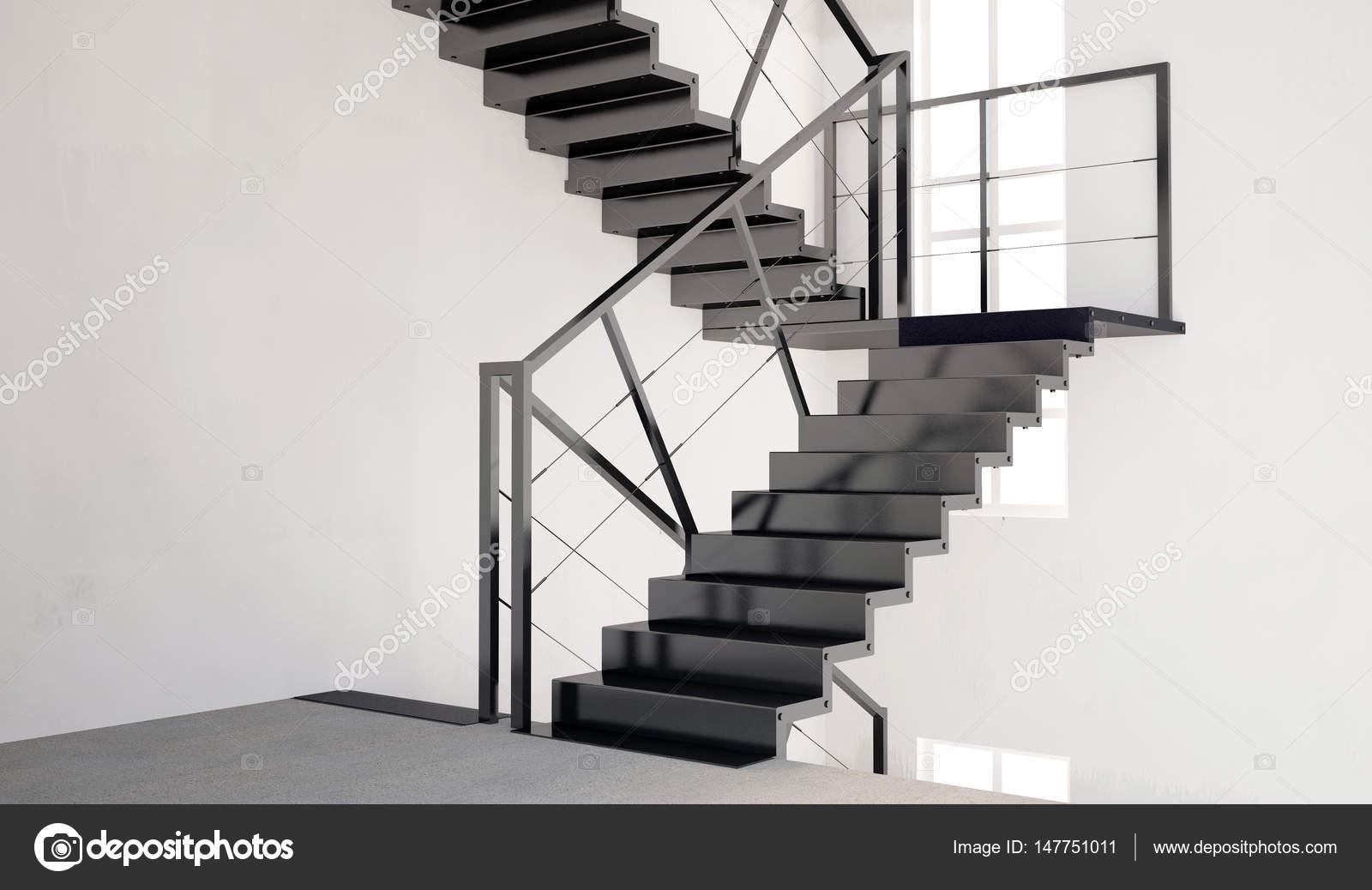 Deridere sul muro interno con scale. soggiorno stile hipster — Foto ...