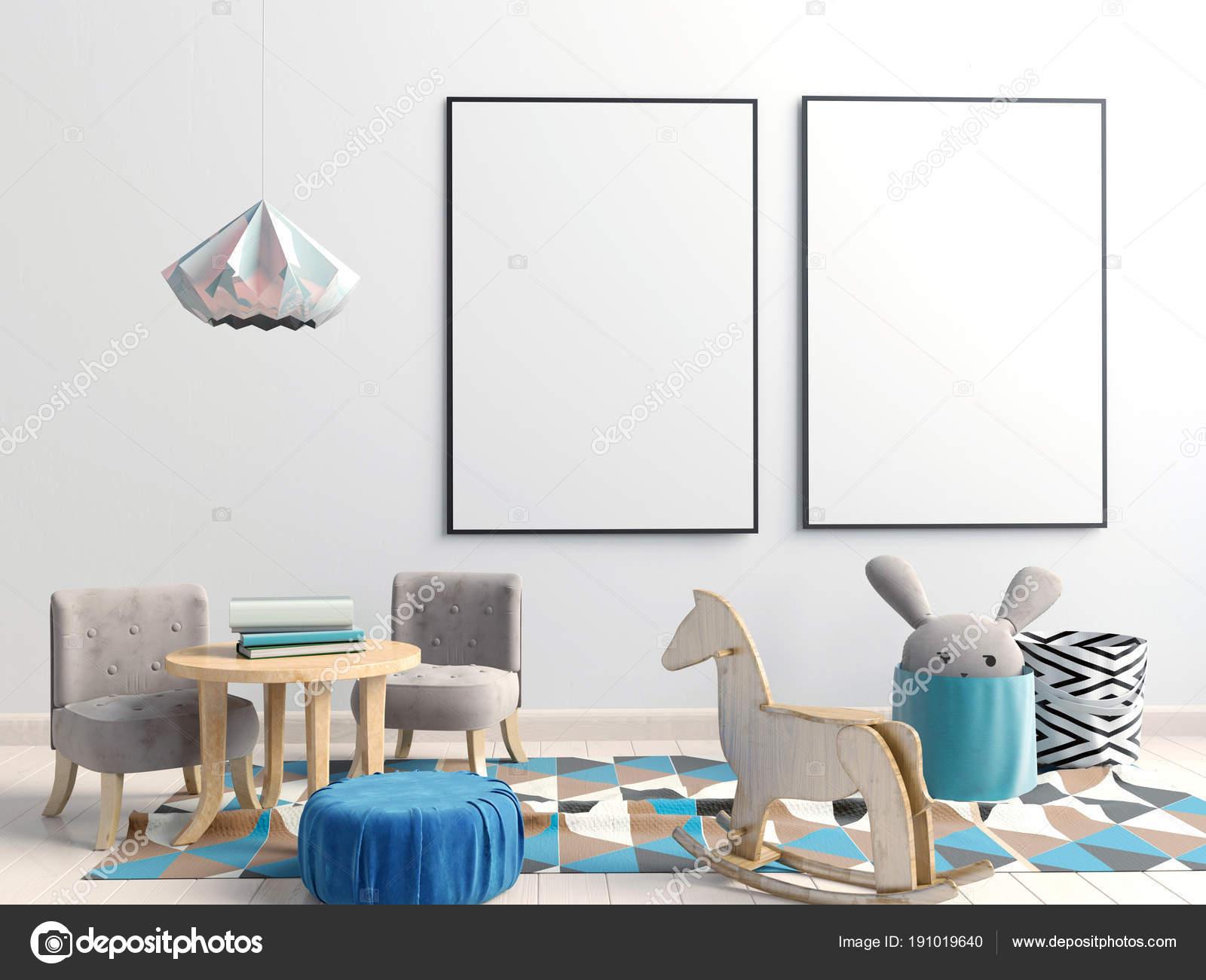 Pastel chambre d\'enfant. salle de jeux. style moderne ...