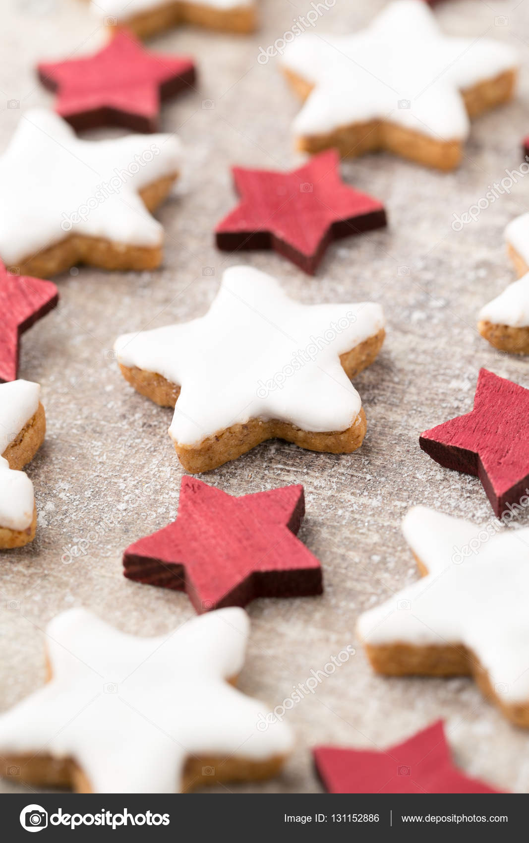 Christmas Cookies With Small Christmas Decoration Stock Photo