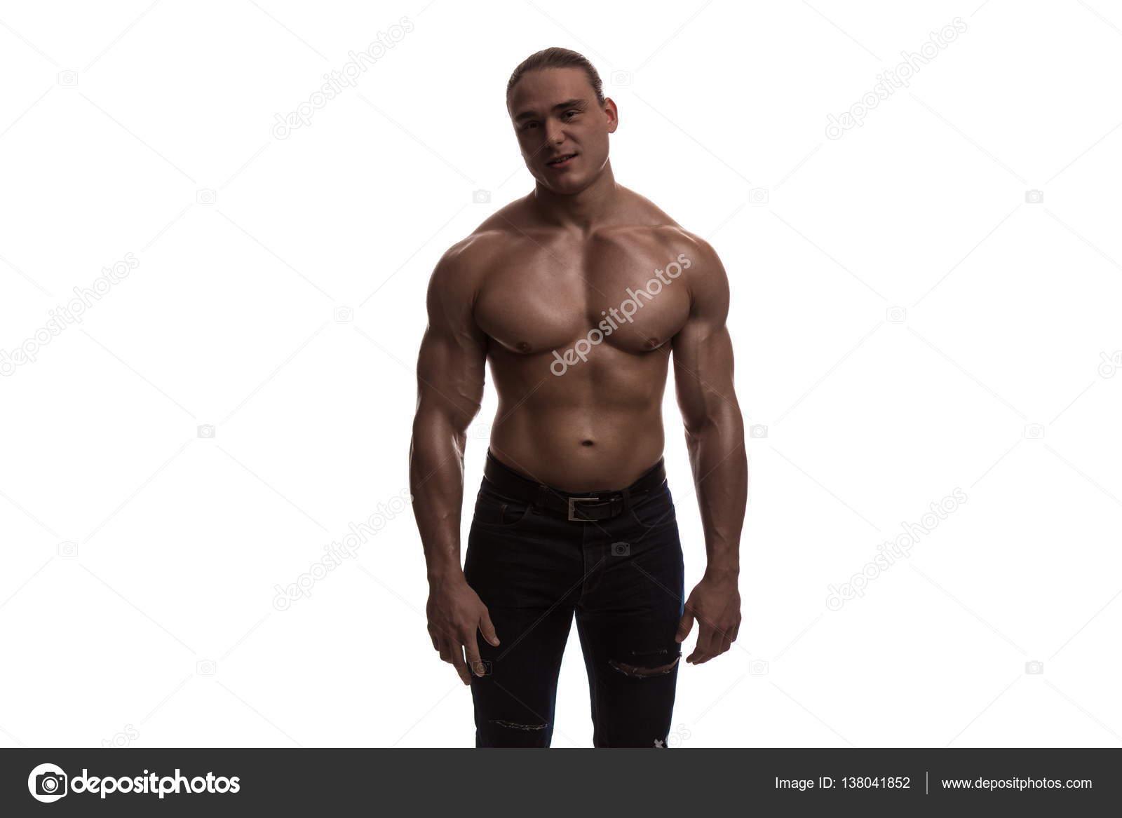 nackten Oberkörper männlichen Bodybuilder Athlet — Stockfoto ...