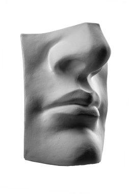 plaster face, sculpture, mask, facial profile