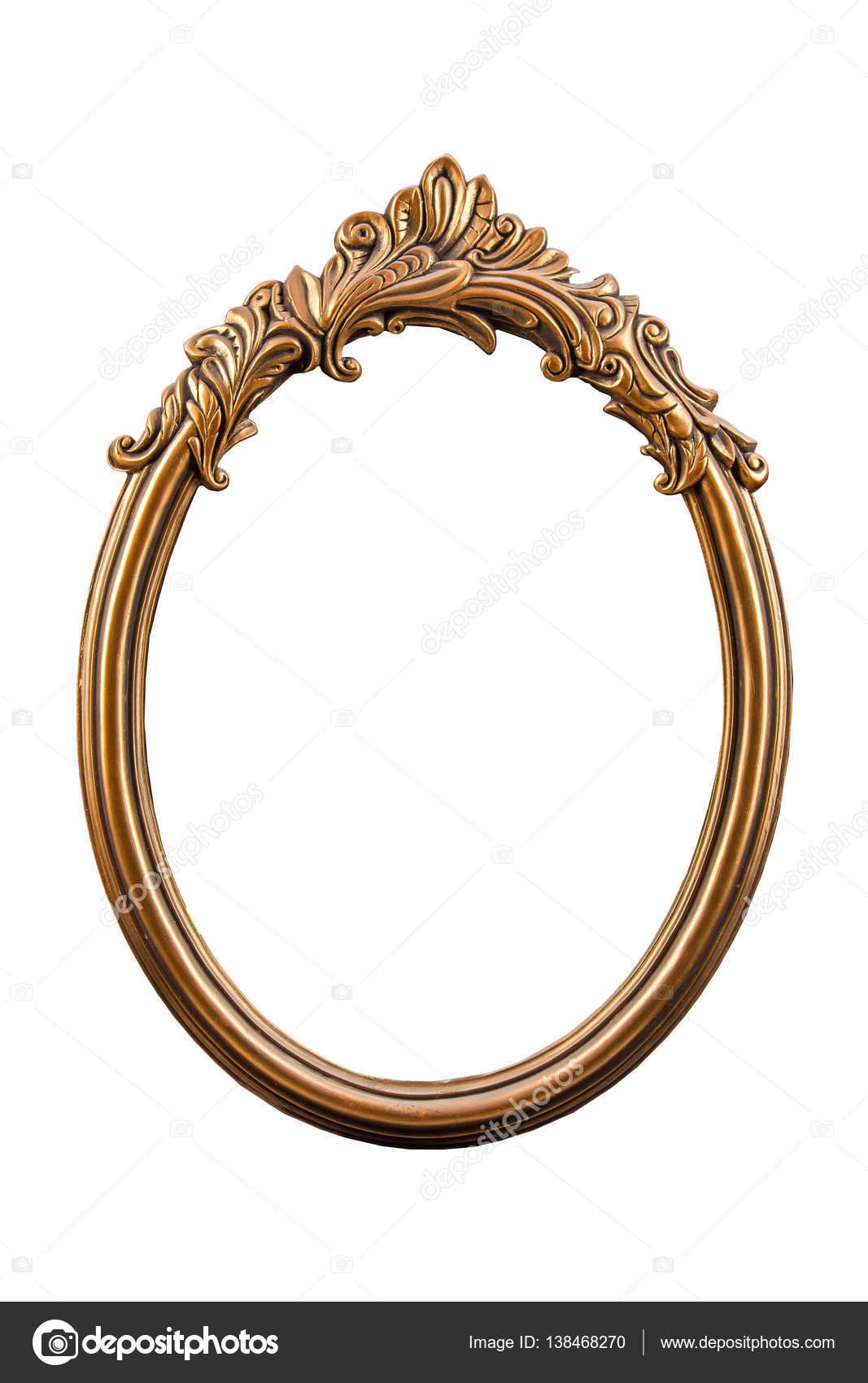 Bronze, Gips Rahmen isoliert auf weißem Hintergrund — Stockfoto ...