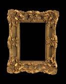 Bronzová rám na obrazy a zrcadla na černém pozadí