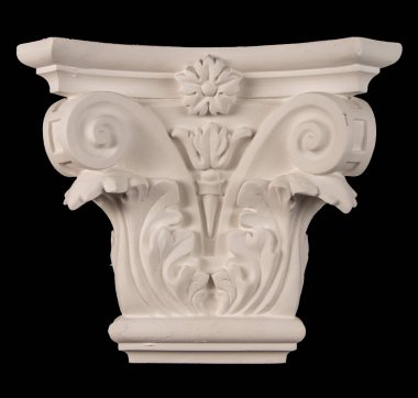 plaster graceful decorations on the columns