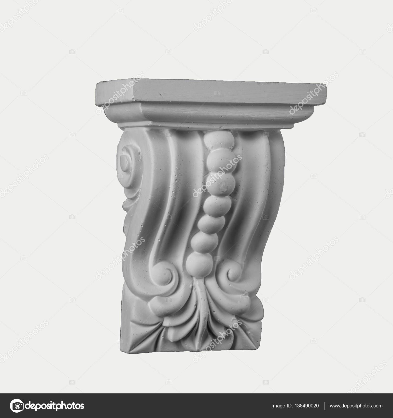 yeso yeso capiteles pilastras con arcos y la base de la columna u fotos