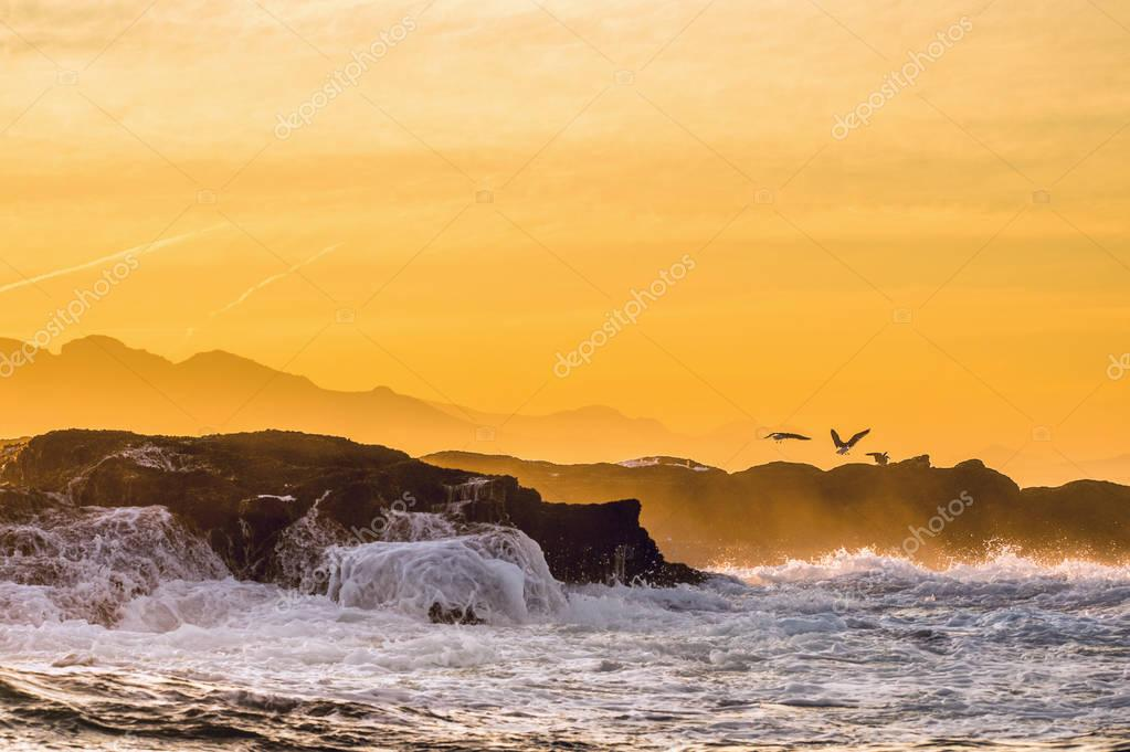 Sunrise Sea landscape.