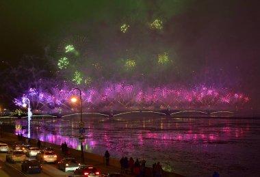 Christmas atmosphere in St. Petersburg