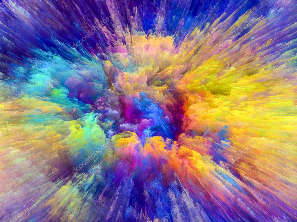 Paint explosion background stock photo agsandrew - Art wallpaper colour ...