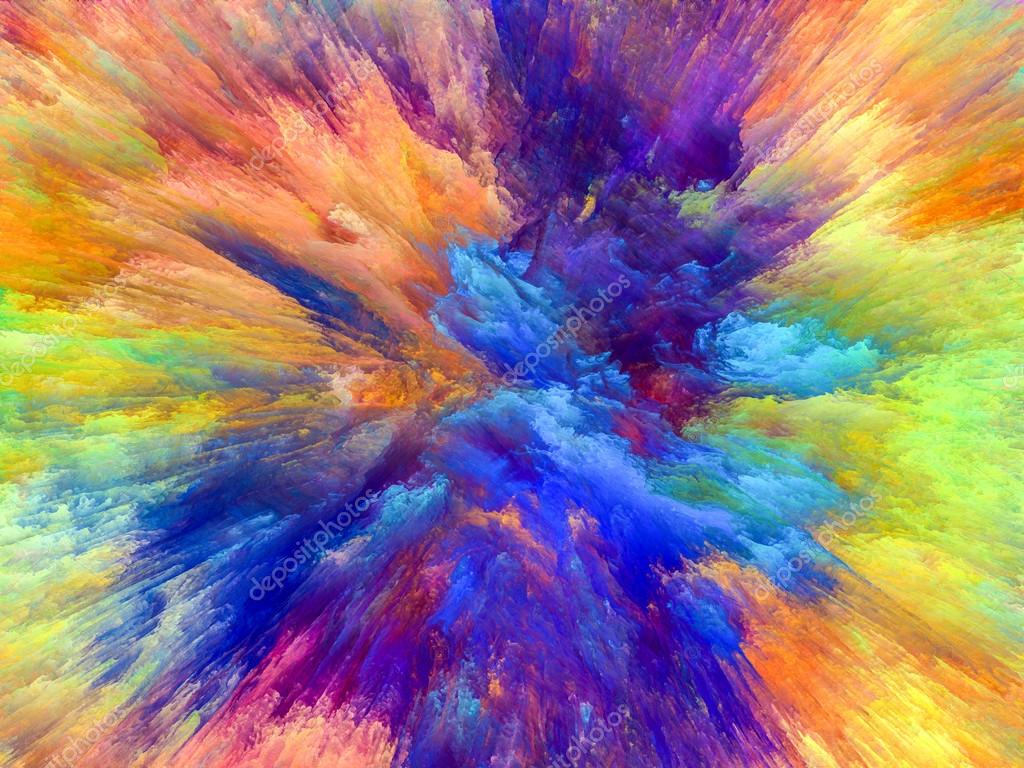 Color Explosion Series Splash Of Fractal Paint On The Subject Creativity And Art Photo By Agsandrew