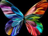 Motýl barvy pozadí