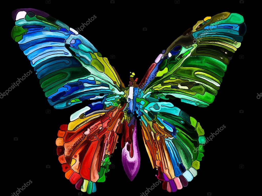 Imagenes De Mariposas De Colores: Foto De Stock © Agsandrew
