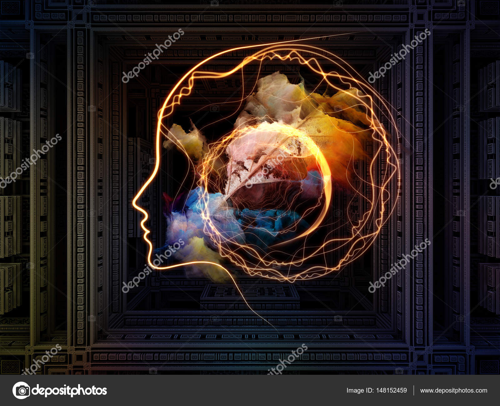 energy of thought patterns stock photo agsandrew 148152459
