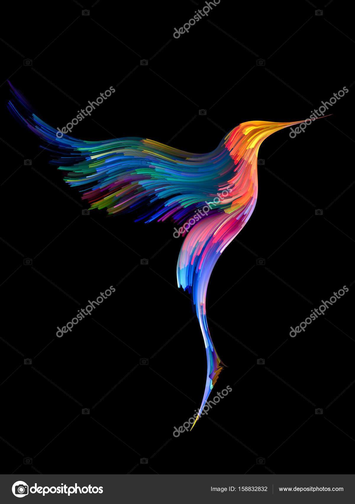 fågel och färg