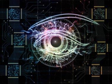 Computer Eye background