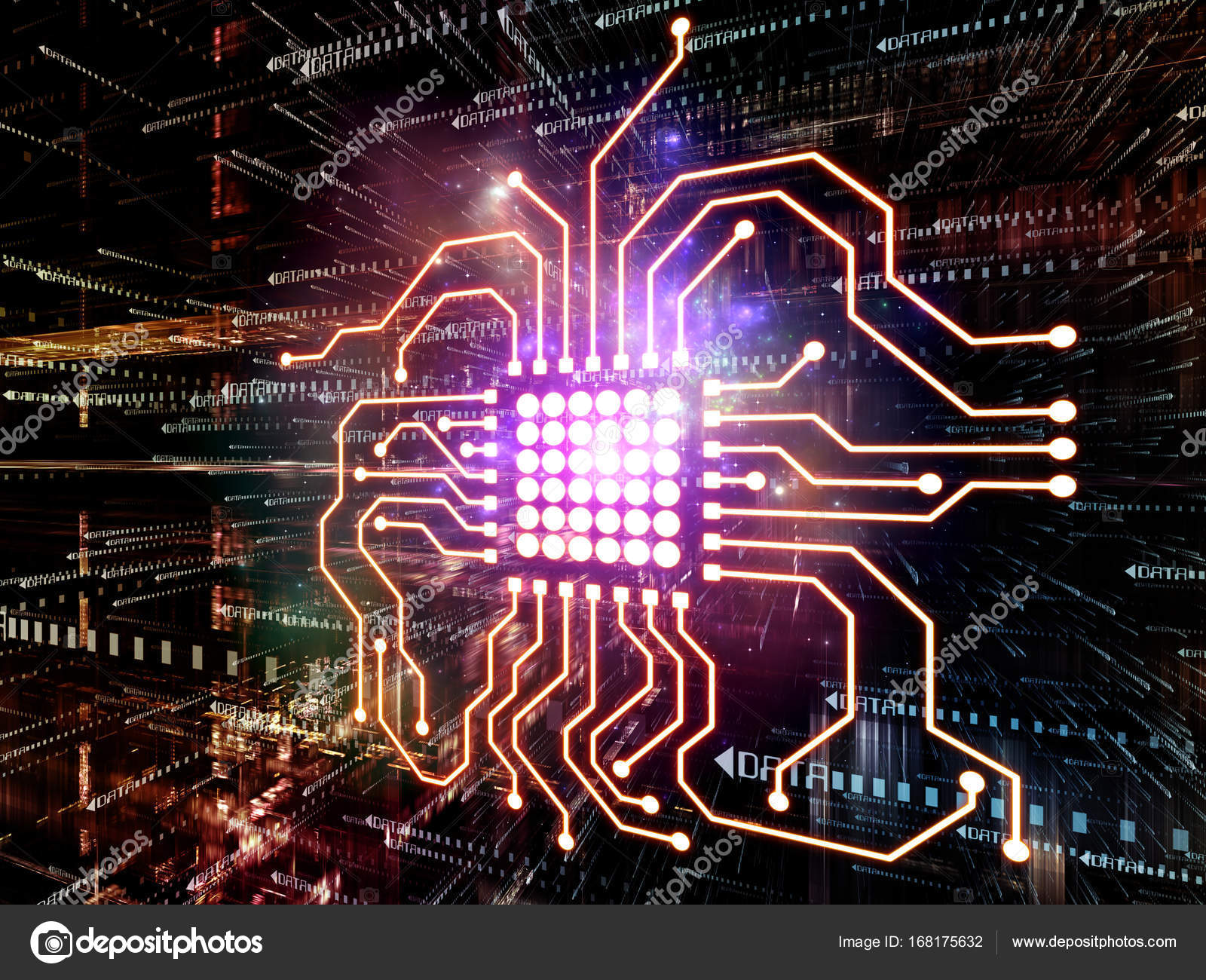 Conceptual Digital World Stock Photo Agsandrew 168175632 Electricity And Electronics Engineering Technology Electronic Symbols Background Composition Of 3d Fractal With Cpu Symbol In Perspective On The Subject Information Computers Communications By