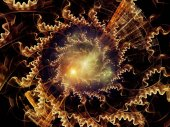 Processing Radial Fractal Texture