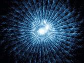 Fotografie Vrstvy radiální fraktální textury