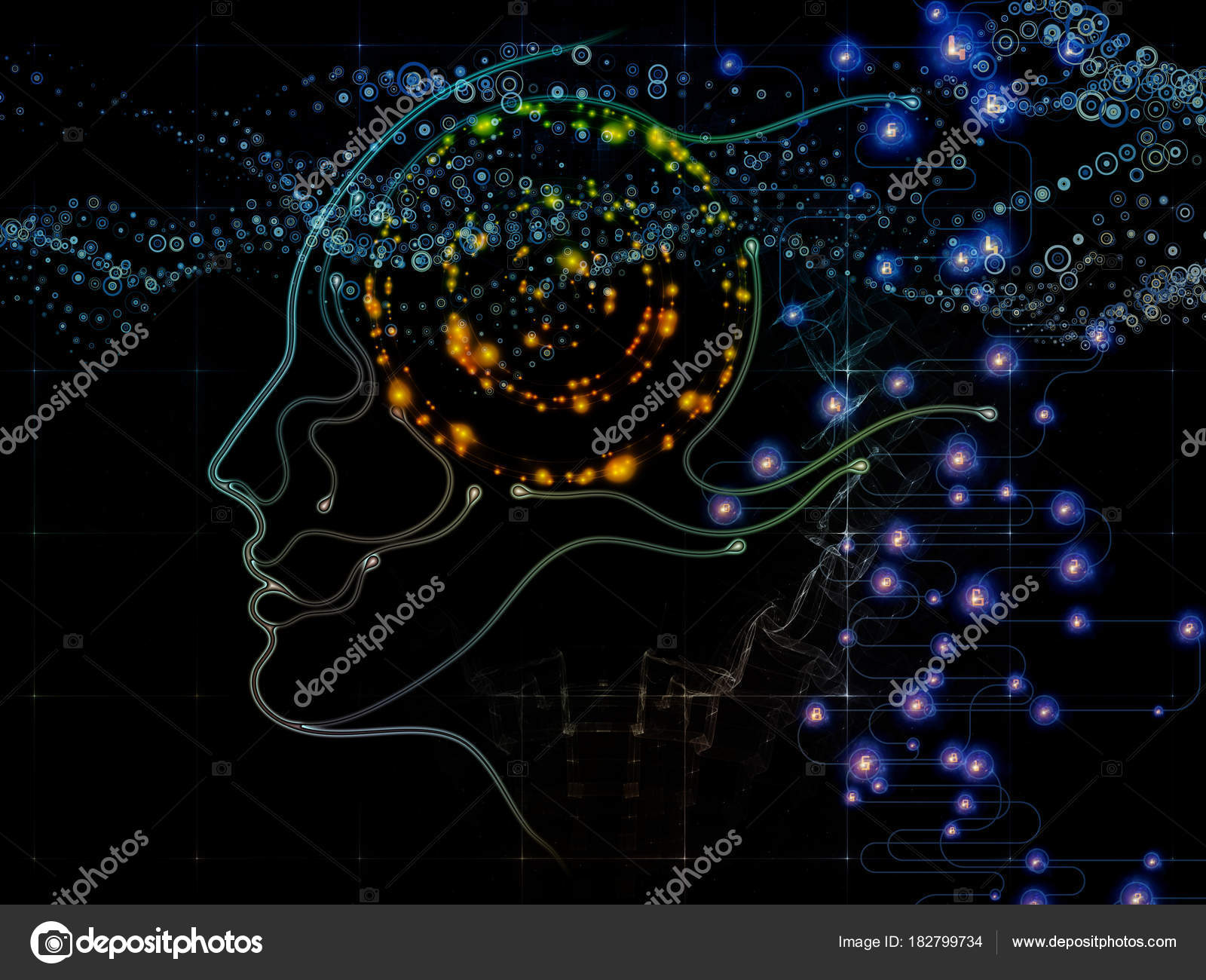 Stream of Machine Consciousness — Stock Photo © agsandrew