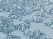 3D vykreslování roviny primitivum narušeny fraktálový šum jako prvek pozadí pro ilustraci na téma počítačová grafika