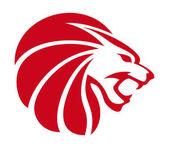 Lion abstract emblem