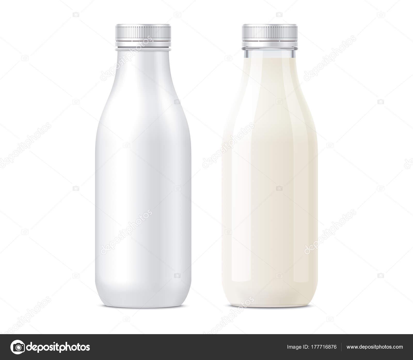 Flaschen Mockups Für Milchgetränke — Stockfoto © eugeniy #177716876