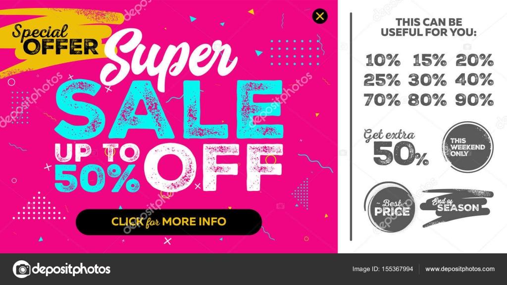 46267042a0a34b Lichte horizontale Super verkoop Pink Banner. Einde van seizoen aanbieding