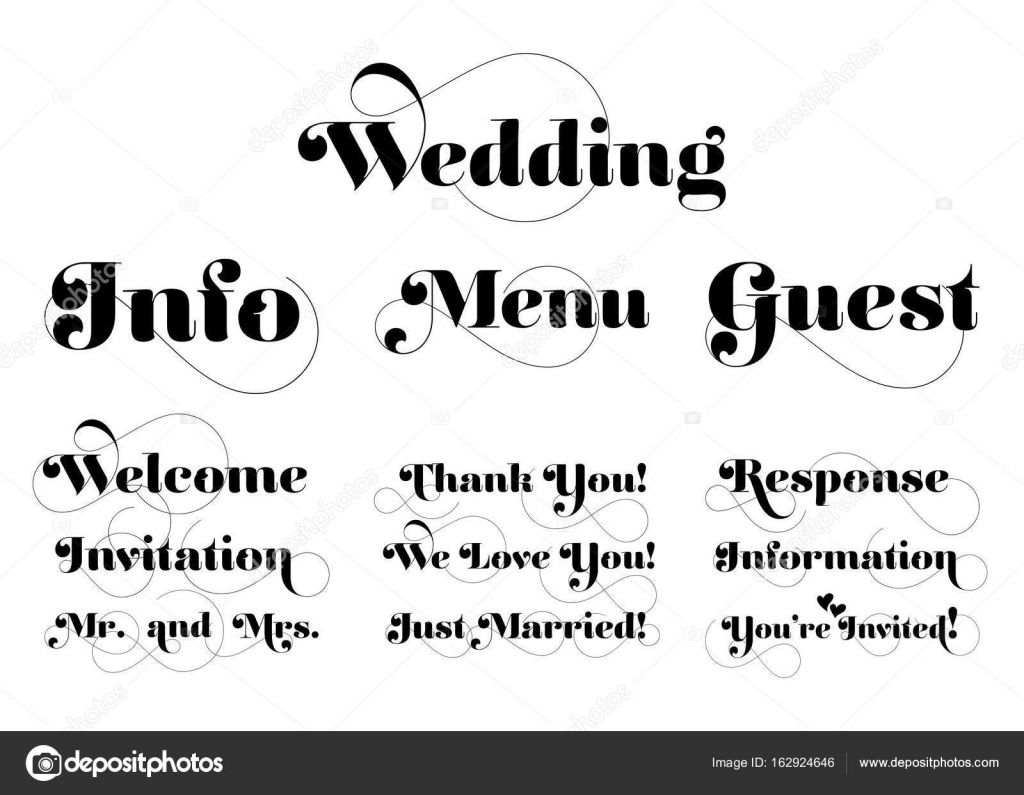 Wedding invitation wording vector calligraphy with swash stock wedding invitation wording vector calligraphy with swash stock vector stopboris Image collections