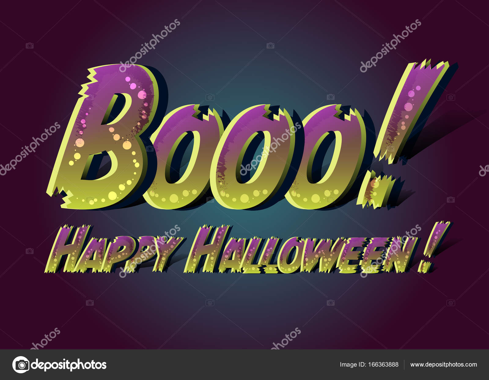 booo happy halloween happy halloween funny card message design